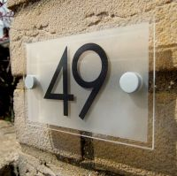 MODERN HOUSE NUMBER PLAQUE / DOOR NUMBER SIGN | eBay