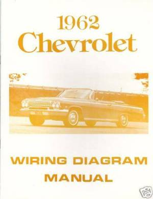 1962 CHEVROLET WIRING DIAGRAM MANUAL | eBay