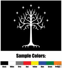 TREE OF GONDOR / LORD OF THE RINGS Vinyl Decal