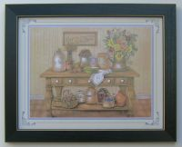 Country Kitchen Picture Framed Country Picture Print ...