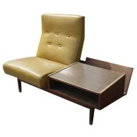 Mid Century Modern Lounge Chair with Side Table | eBay