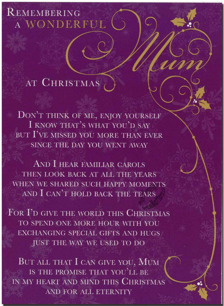Christmas Grave Card Wonderful Mom FREE Holder C101