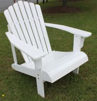 7 Slat Hardwood Wood Adirondack Chair Outdoor Deck Pool ...