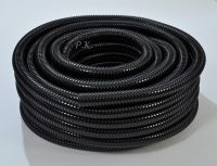 "Black Flexible Pipe 20mm 0.75"" Corrugated Flexi Hose ..."