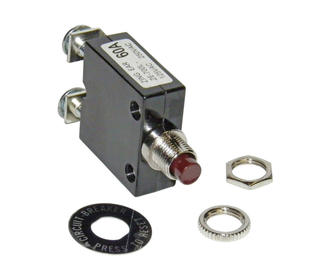 medium resolution of amp circuit breaker for 12 24 50 volts dc or 120 240 volts ac ebay