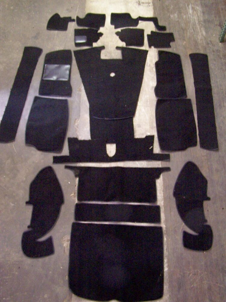 Mgb Gt 68 75 Black Loop Carpet Kit With 20 Ounce Padding