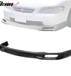 details about pu for 98 02 honda accord 4dr v style urethane front bumper lip spoiler body kit [ 1000 x 1000 Pixel ]
