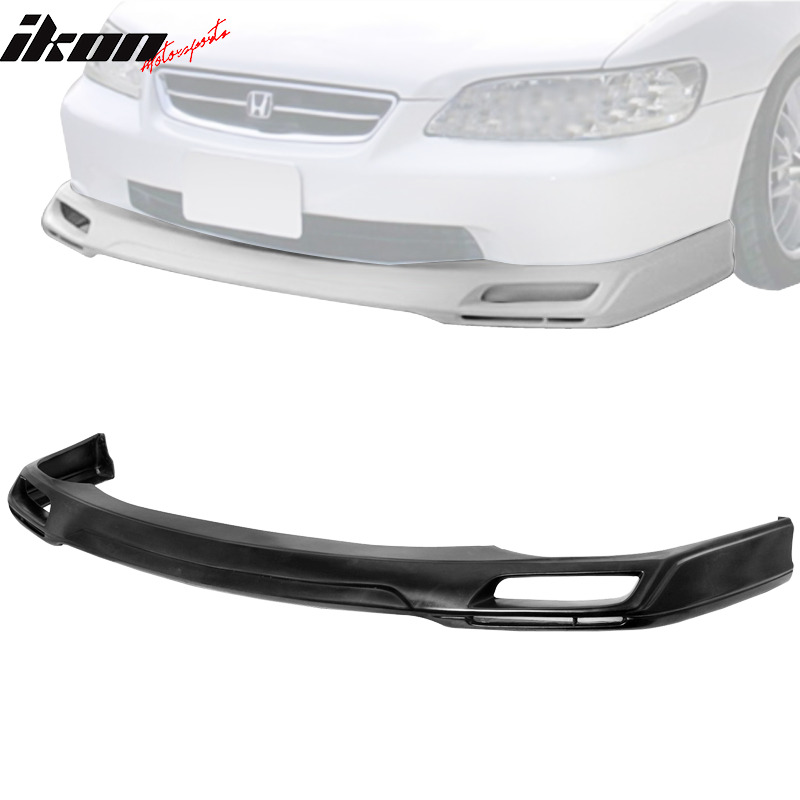 hight resolution of details about pu for 98 02 honda accord 4dr v style urethane front bumper lip spoiler body kit