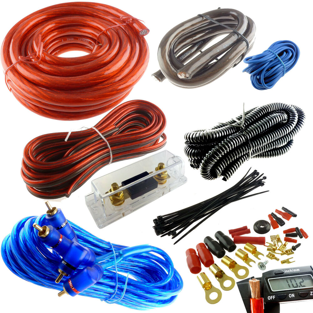 hight resolution of 4 gauge premium power wire wiring kit 3000w anl install car audio crossover wiring diagram car