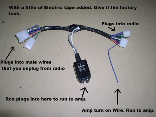 Wiring Amp To Radio
