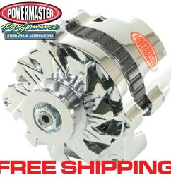 details about powermaster 174611 gm cs130 1 wire alternator 105a w side bat post chrome 1v [ 1000 x 1000 Pixel ]