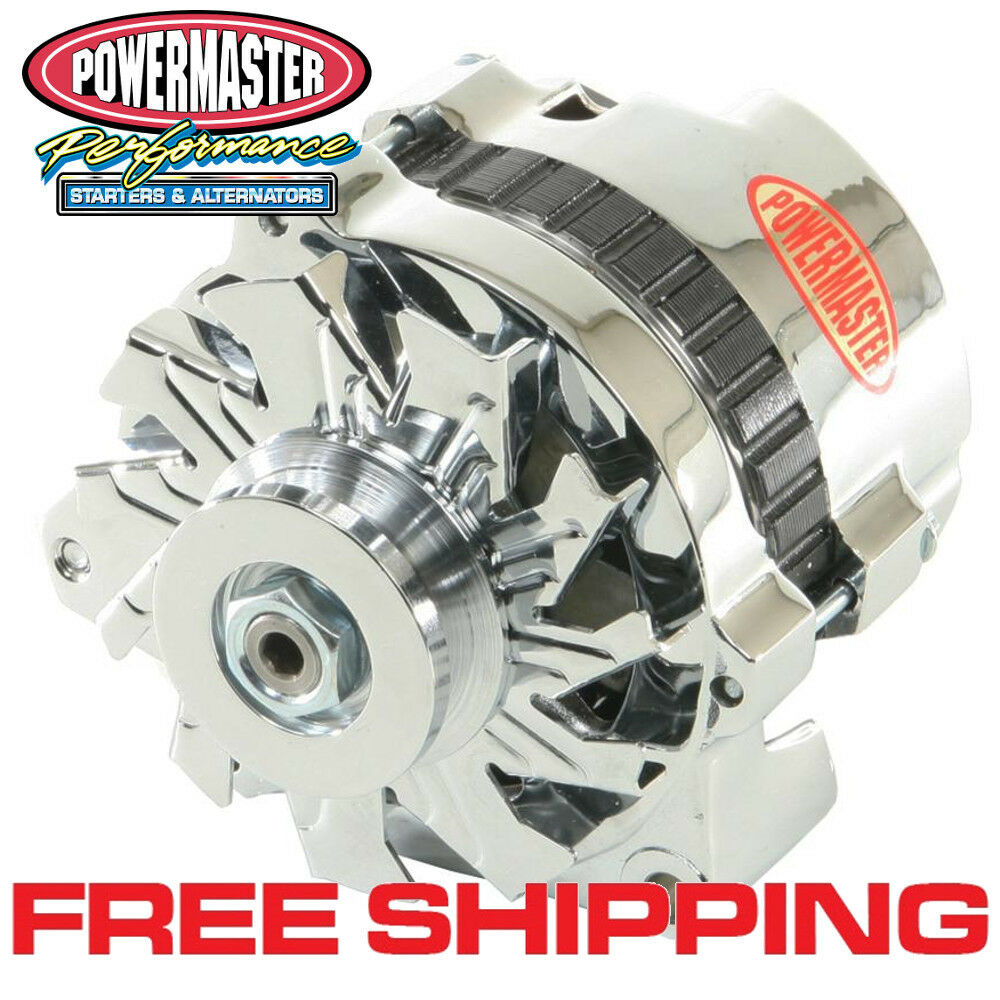 hight resolution of details about powermaster 174611 gm cs130 1 wire alternator 105a w side bat post chrome 1v
