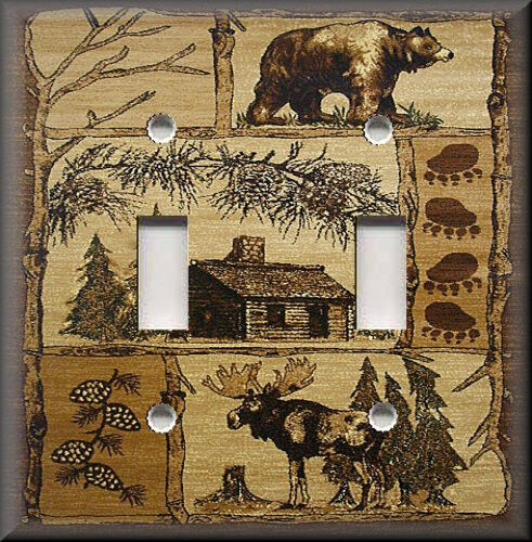 Metal Light Switch Plate Cover Rustic Bear And Moose