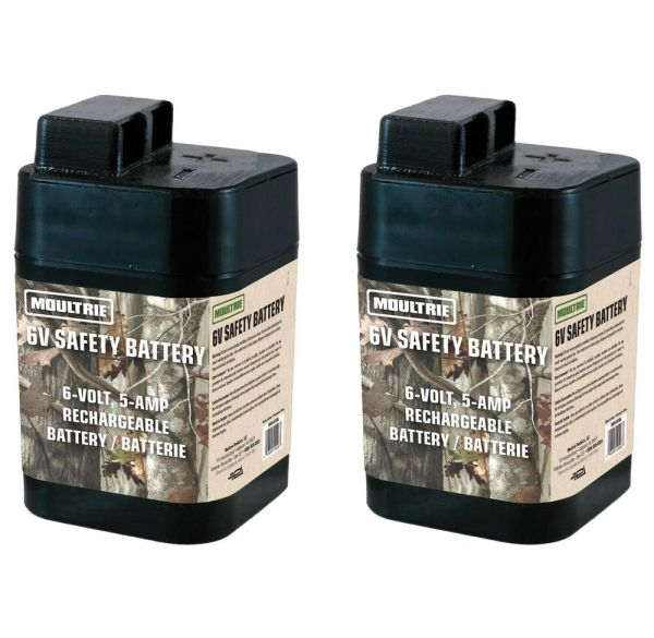 2 Moultrie 6 Volt Rechargeable Safety Batteries
