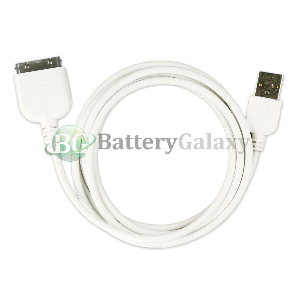 100 NEW USB Charger Cable Cord for Tab Tablet Apple iPad 1