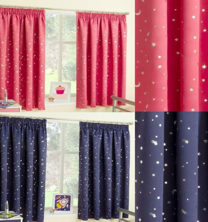 Childrens Bedroom Curtains Pink Blue Yellow Beige Gingham Balloons