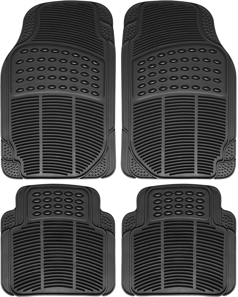 Auto Floor Mats for BMW Car SUV 4pc Set All Weather Rubber