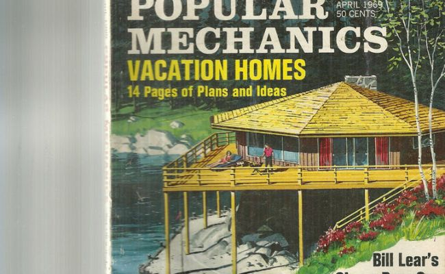 April 1969 Popular Mechanics Magazine Vacation Home Plans
