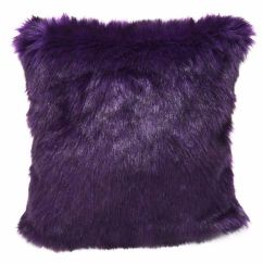 Faux Suede Sofa Cover Leather Sectional With Cup Holders Fm734a Purple Soft Thick Long Fur Cushion ...