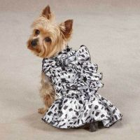 Zack & Zoey Snow Leopard Satin Dog Dresses Dog Clothes ...