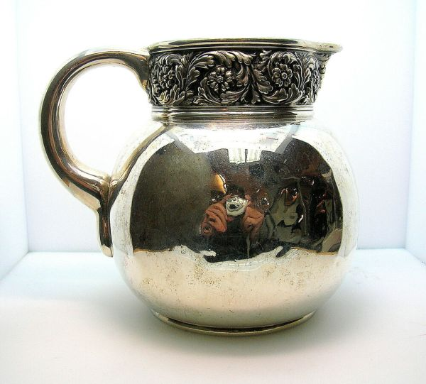"Antique Tiffany & . Sterling Silver Pitcher - """" Mark"