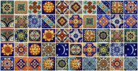 50 Mexican Talavera TILES 2x2 Clay Handmade Folk Art ...