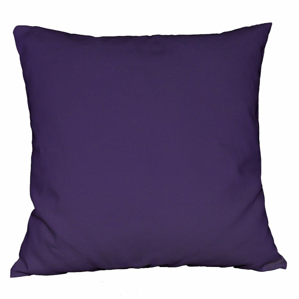 la03a Purple High Quality Cotton Canvas Fabric Cushion