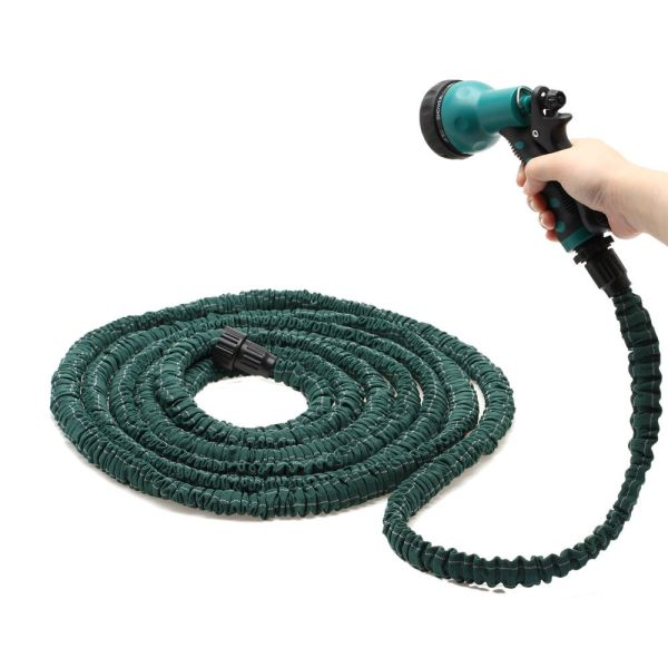 Deluxe 25 50 75 100 Feet Expandable Flexible Garden Water Hose With Spray Nozzle