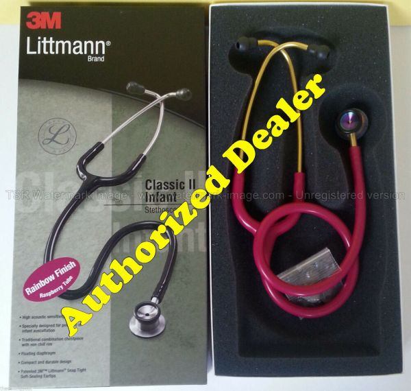 #2157 Raspberry Rainbow 3m Littmann Classic Ii Infant Stethoscope Littman 28""