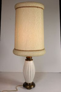 Vtg Mid Century Modern Electric Table Lamp Speckled ...