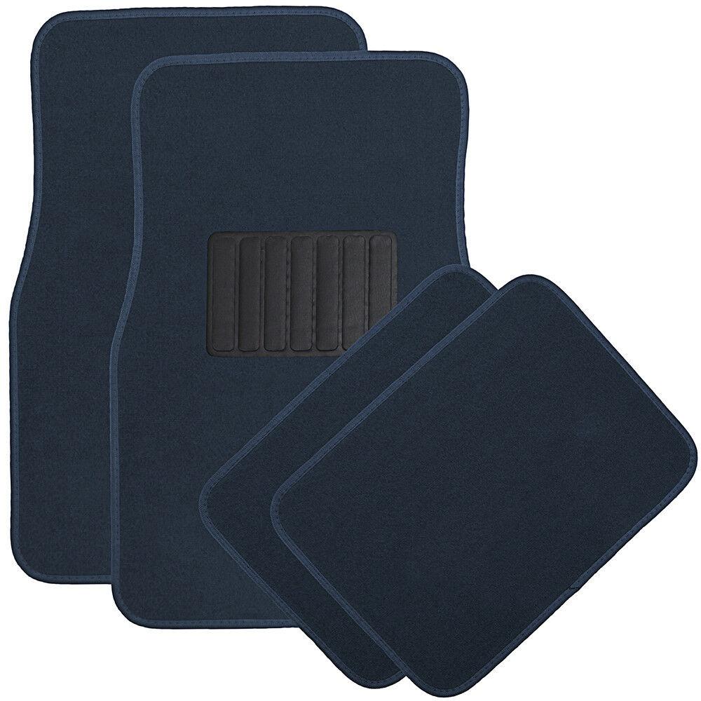 hight resolution of details about auto floor mats for ford car truck suv van 4pc full set heavy duty blue carpet