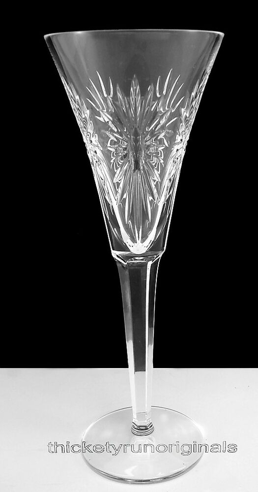 WATERFORD Crystal TWO 2 MILLENIUM TOASTING FLUTES HEALTH