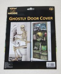 Halloween party ghostly door cover signs decoration window ...