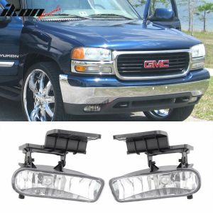 Fits 9902 Chevy Silverado Clear Lens Fog Light Lamp 0006