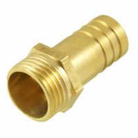"Gold Tone Brass 16mm Fuel Gas Hose Barb 1/2"" PT Male ..."