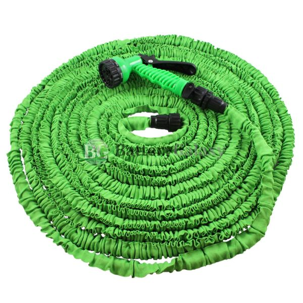 Deluxe 100 Feet 100ft Expandable Flexible Garden Water Hose Spray Nozzle Green