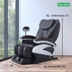 Back Massage Chair Reclaimed Wood Chairs New Electric Full Body Shiatsu Recliner Heat Stretched Details About Foot Rest