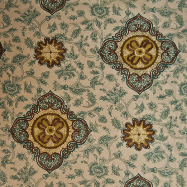 Or132 Nature Suzani Floral Birds Drapery Upholstery Home