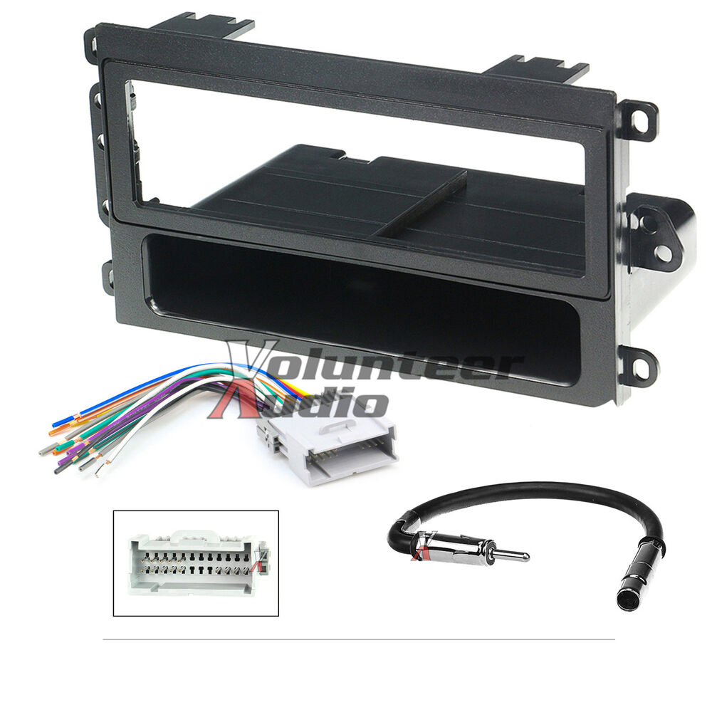 Car Radio Stereo CD Player Dash Install Mounting Trim Bezel Panel Kit  Harness  eBay