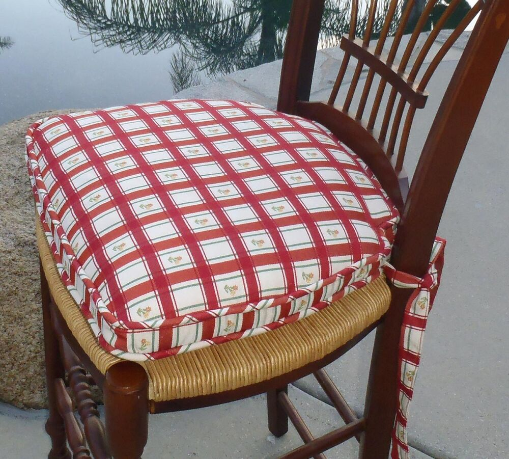 French Country Living Chair Pad Country Daisies 4 Pack  Ebay