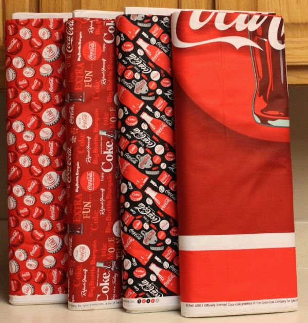 Coca Cola Bottle Panel & Coordinating Fabrics Sold