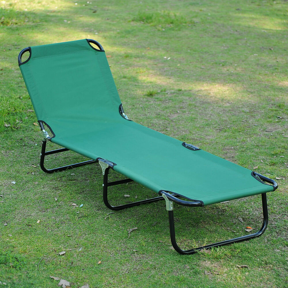 Lounge Chair Patio Patio Foldable Chaise Lounge Chair Outdoor Camping Cot Sun Recliner Beach Pool 763250283622 Ebay
