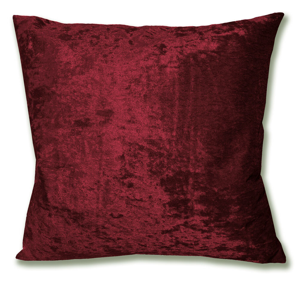 cotton velvet sofa timber slat bed mv25a dark red diamond crushed cushion cover/pillow ...