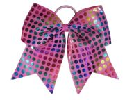 """rainbow foil dots pink"" cheer"