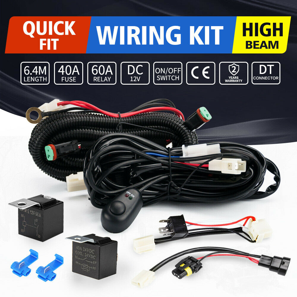 3m Wiring Harness Kit On Off Switch For Led Spotlights Work Fog Light