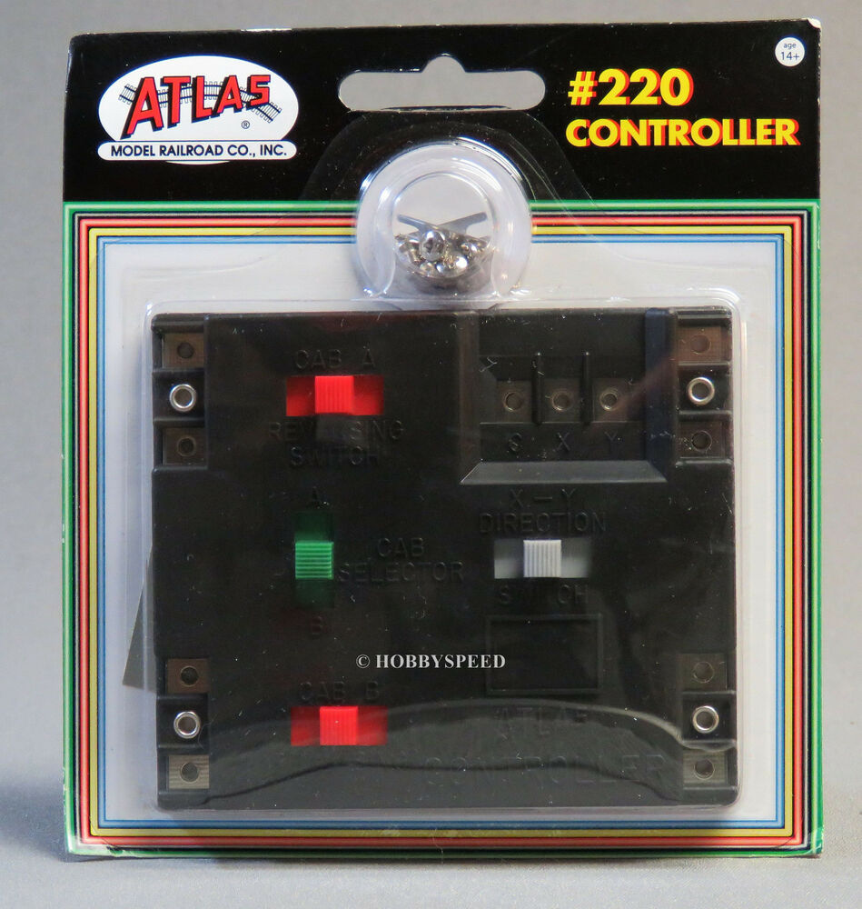 medium resolution of atlas ho controller switch wire control reverse loops wyes turntable track 220 ebay