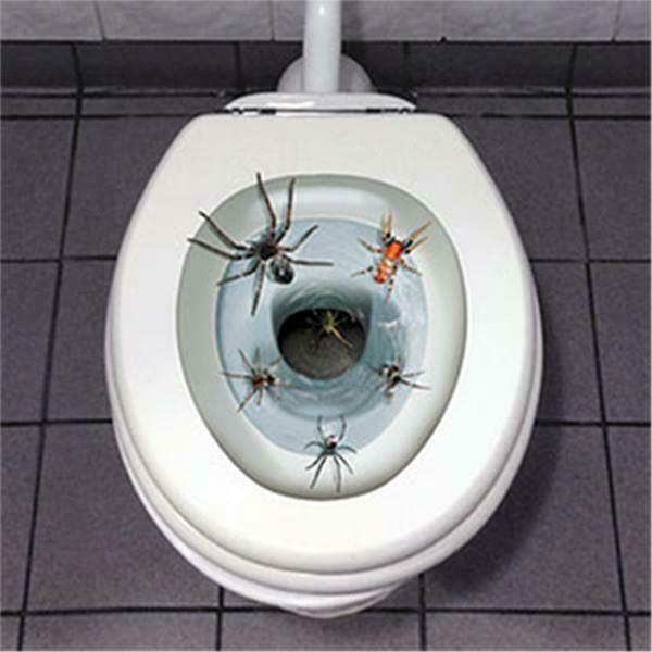 Halloween Spider Toilet Seat Cover Peel And Place EBay