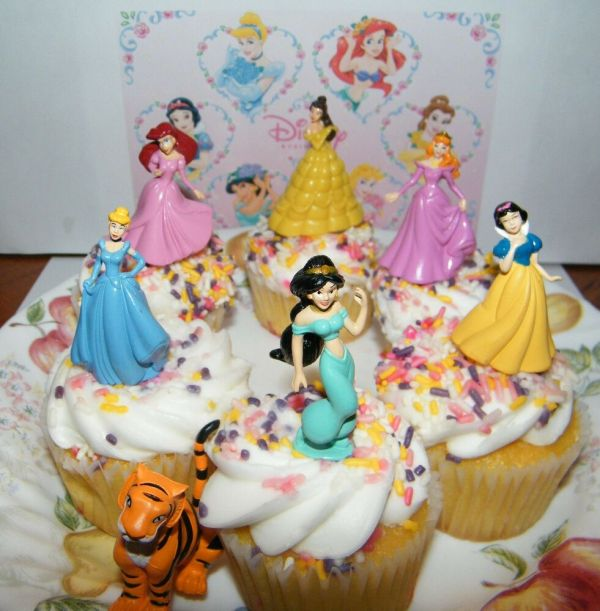 Disney Princess Cake Toppers Set Of 7 With Jasmine Belle
