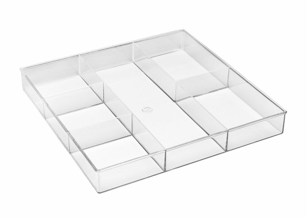 Whitmor 6 Section Clear Home Kitchen Office Desk Drawer