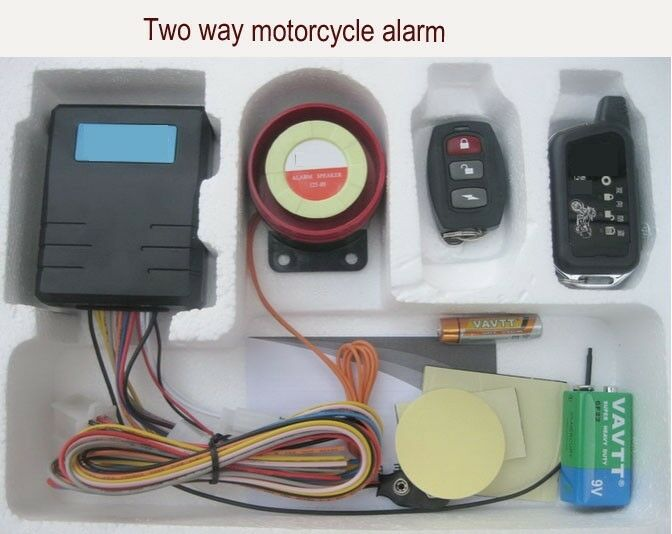 Motorcycle Alarm With Twoway Lcd Remotes And Remote Engine Starter On
